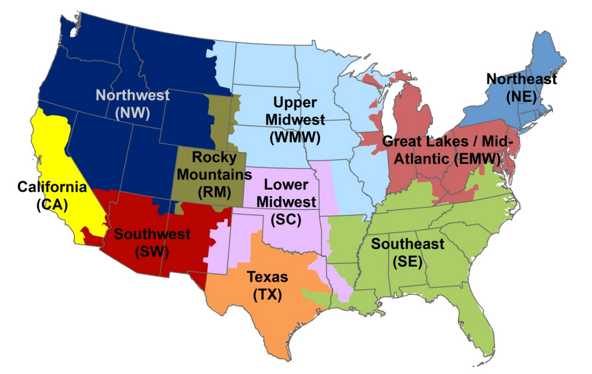 AVERT Region Map