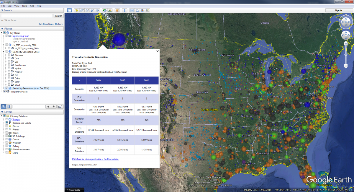 Interactive Map Of Us Power Plants Synapse Energy - Google-us-map