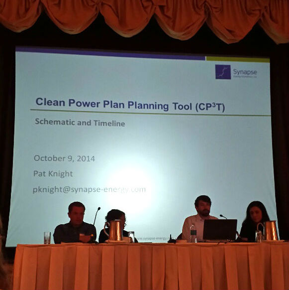 Pat Knight presenting on Clean Power Planning Tool at Beyond Coal Conference