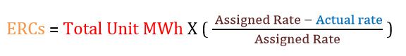 ERCs equation
