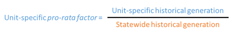 Unit-specific pro rata factor